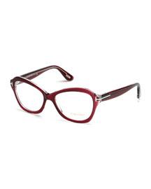 Squared Cat-Eye Fashion Glasses