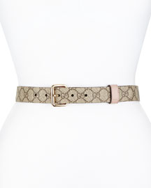 Reversible Leather Belt, Cipria/Brown