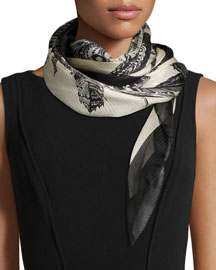 Guineamon Foulard Silk Scarf