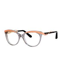 Wavy-Brow Fashion Glasses