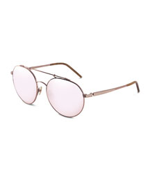 Combustion 5 Mirrored Sunglasses, Rose-Tone (Made to Order)