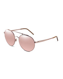 Combustion 5 18k-Lens Sunglasses, Rose Golden (Made to Order)