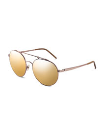 Combustion 5 24k-Lens Sunglasses, Rose-Tone (Made to Order)
