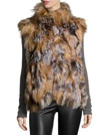 Fox Fur Vest, Natural