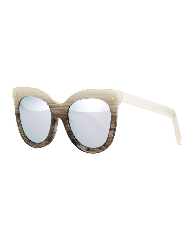 Illesteva Holly Cat-Eye Sunglasses, Pearl Ombre