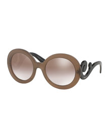Baroque Swirl-Arm Sunglasses