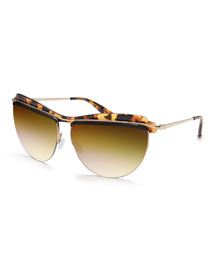 Universal Fit Christian Roth The Affair Sunglasses, Tortoise