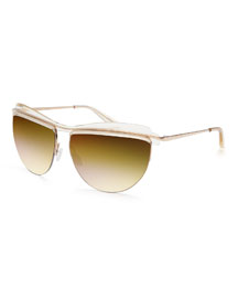 Universal Fit Christian Roth The Affair Sunglasses, Champagne