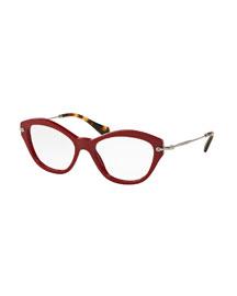 Acetate Cat-Eye Fashion Glasses