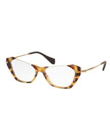 Cut-Top Cat-Eye Fashion Glasses