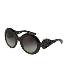 Laser-Cut-Temple Sunglasses