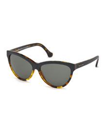 Dual-Color Cat-Eye Sunglasses