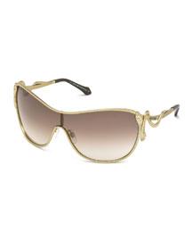 Snake-Motif Shield Sunglasses