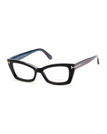 Cat-Eye Fashion Glasses, Black
