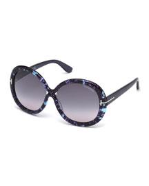Gisella Oversized Round Sunglasses
