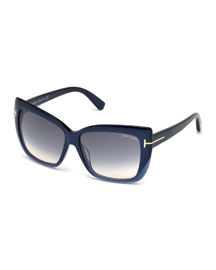 Irina Square Gradient Sunglasses
