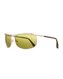 Ryder Aviator Sunglasses, Rose Golden