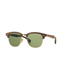 Classic Clubmaster Wood Sunglasses