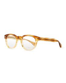 Sheldrake Streaked Fashion Glasses, Oak, Women's