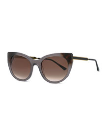 Bunny Cat-Eye Sunglasses, Gray