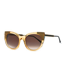 Bunny Cat-Eye Sunglasses, Yellow