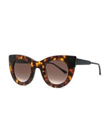 Cheeky Cat-Eye Sunglasses, Brown