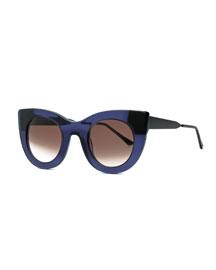 Cheeky Cat-Eye Sunglasses, Purple