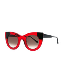 Cheeky Cat-Eye Sunglasses, Red