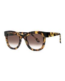 Chromaty Plastic Square Sunglasses, Tortoise