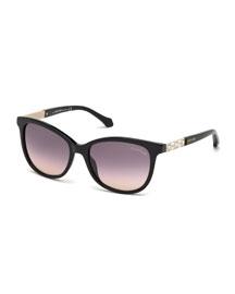 Merak Crystal-Temple Sunglasses