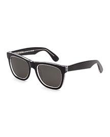 Classic Square Sunglasses, Achromatic