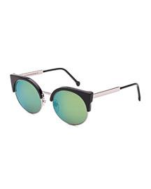 Ilaria Mirrored Iridescent Sunglasses, Patrol
