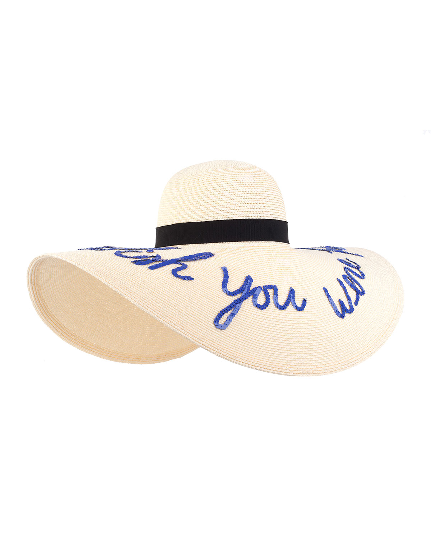 Eugenia Kim Sunny Floppy Sun Hat, Ivory, Size: M