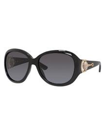 Square Horsebit Sunglasses