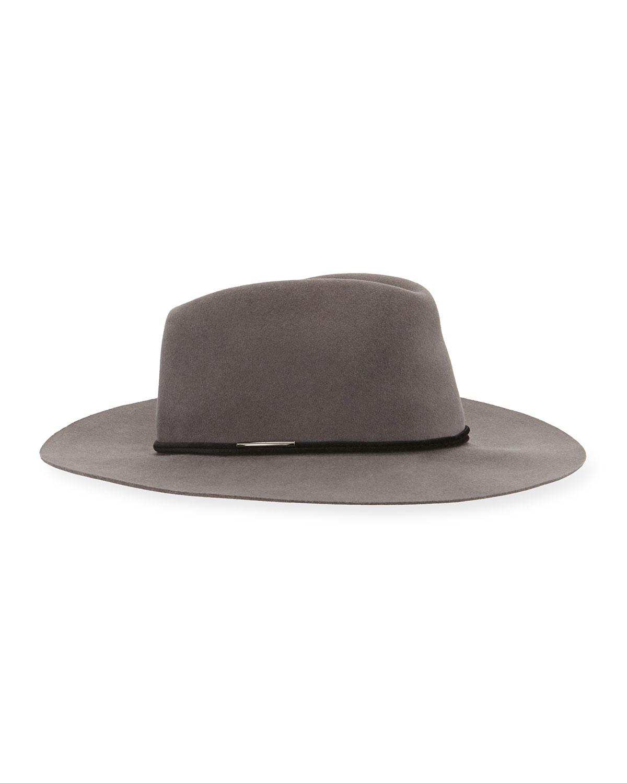 Rag & Bone Range Felt Fedora Hat, Size: S, Gray