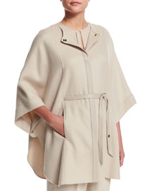 Margot Cashmere Cape Jacket, Oats