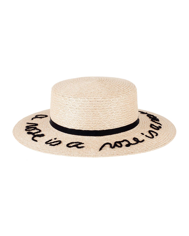 Eugenia Kim Brigitte Boater Hat, Natural, Size: M