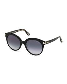 Monica Universal-Fit Cat-Eye Sunglasses