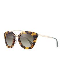 Square Brow-Bar Sunglasses