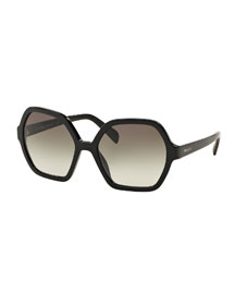 Oversize Hexagonal Sunglasses