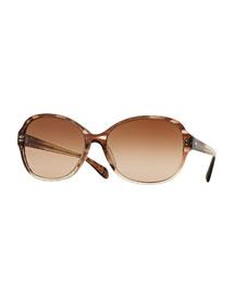 Brigid Butterfly Sunglasses, Henna