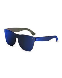 Tuttolente Classic Square Sunglasses, Blue