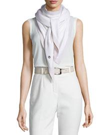 Scialle Summer Twice Cashmere/Silk Evening Scarf, White