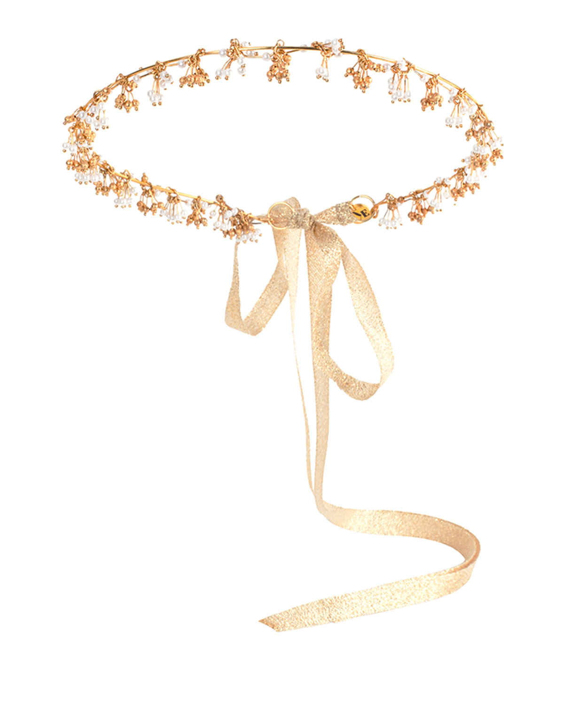 Eugenia Kim Ariona Tassel Crown, Gold