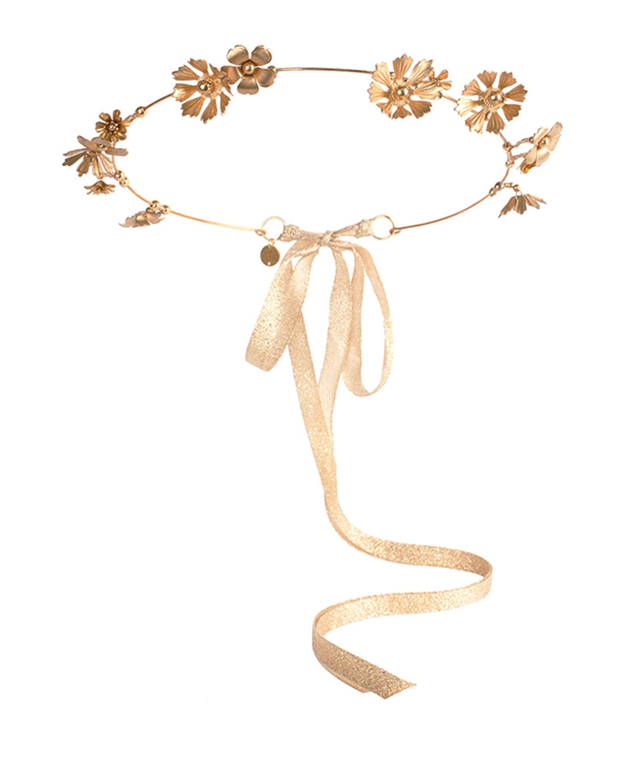 Eugenia Kim Athena Floral Crown, Golden, Gold
