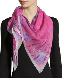 Magic Classic Silk Square Scarf, Pink