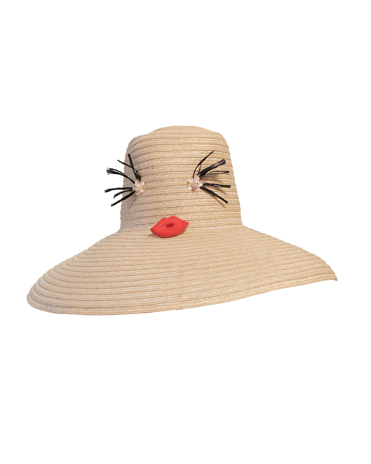 Yestadt Millinery Cheeky Straw Hat, Natural, Size: S/M(22.5)