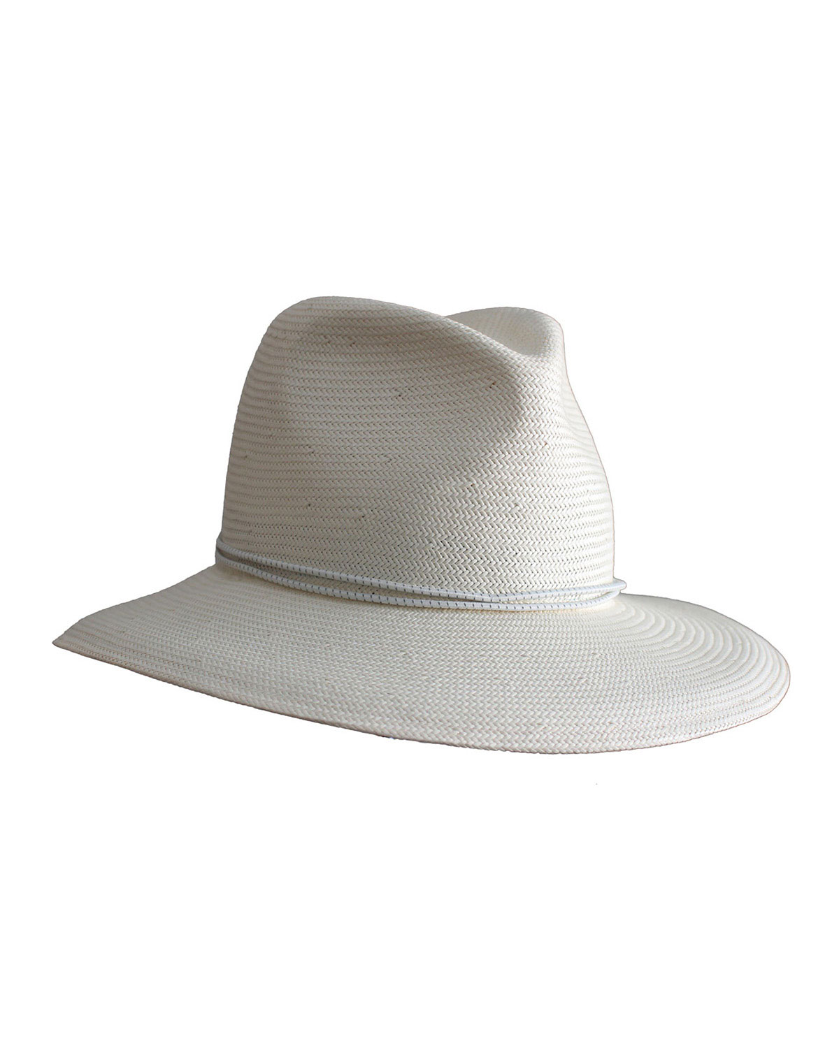 Yestadt Millinery Nomad Packable Straw Fedora Hat, Size: SMALL/MEDIUM, Ivory