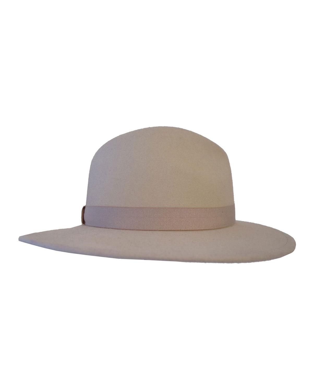 Yestadt Millinery Nomad Packable Felt Fedora Hat, Size: SMALL/MEDIUM, Black