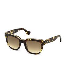 Clear-Bridge Plastic Square Sunglasses